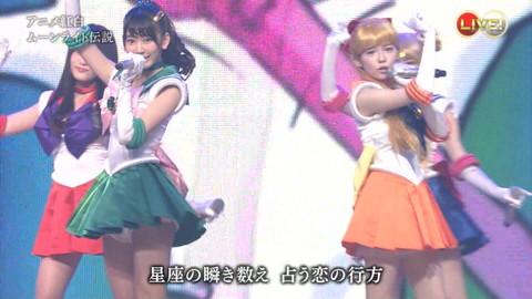 第66回紅白歌合戦 アニメ紅白 AKB48 セーラームーンコスプレ画像003