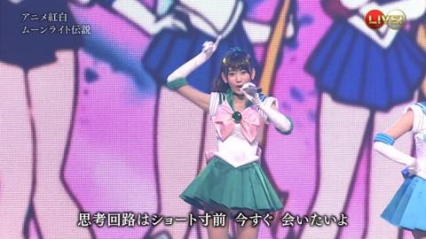 第66回紅白歌合戦 アニメ紅白 AKB48 セーラームーンコスプレ画像008