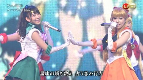 第66回紅白歌合戦 アニメ紅白 AKB48 セーラームーンコスプレ画像014