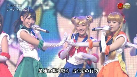 第66回紅白歌合戦 アニメ紅白 AKB48 セーラームーンコスプレ画像039