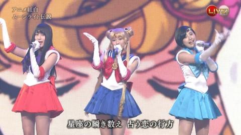 第66回紅白歌合戦 アニメ紅白 AKB48 セーラームーンコスプレ画像040