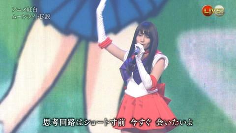 第66回紅白歌合戦 アニメ紅白 AKB48 セーラームーンコスプレ画像057