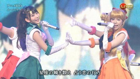 第66回紅白歌合戦 アニメ紅白 AKB48 セーラームーンコスプレ画像068