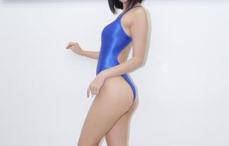 (九条ねぎ)ハイレグ競泳ミズ着姿の人気コスプレイヤーが驚きの白さでワロタwwwwww(えろ写真16枚)
