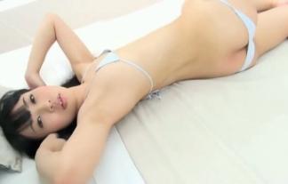 (清水結花)ちっぱい女の極小ミズ着ハミ乳と半尻がえろい(えろ写真32枚)