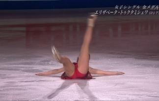 (M字・谷間)これチクビ見えてね?wwwwフィギュアスケート世界選手権をえろ目線で見てみようwwwwwwwwww(TVキャプ写真58枚)