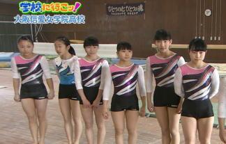 夕方ニュースで女子JC・10代小娘が学校で新体操の練習☆愛おしい(*´∀`*)(写真26枚)