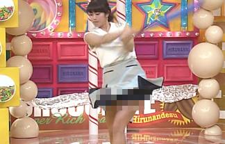 (お宝)神スイング稲村亜美が生放送で神パンツ丸見え☆GIFムービーでどうぞwwwwwwww