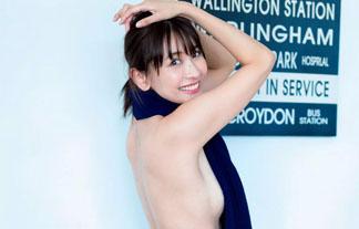 山崎真実(30)、ほぼ裸でグラビア復帰☆ブラなしお乳を披露(写真24枚)