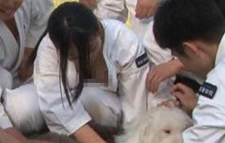 (シロウト胸チラ)「ZIP☆」で美巨乳10代小娘の胴着がはだけてたわわなお乳がチラリ…☆(GIFムービーあり)