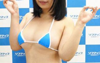 (ほぼ裸)むちむち系グラドルがとんでもない極小ミズ着でソフマップwwwwww(写真30枚)