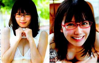 (小さい乳)眼鏡美10代小娘・加藤里保菜の寄せて上げたAカップちっぱいをチェ~ケラ☆(写真26枚)