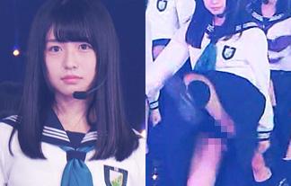 (放送事故)欅坂46長濱ねる、ハイキックしてナプキンはみ出る☆(GIFムービー&写真35枚)