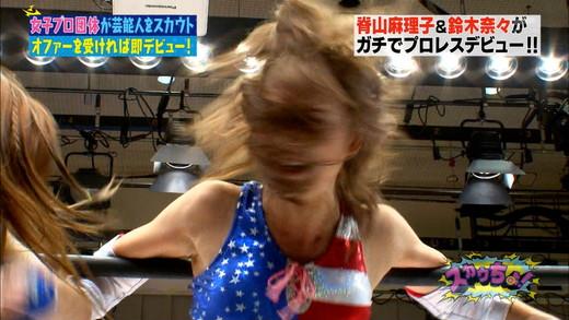 脊山麻理子・鈴木奈々 女子プロレス エロキャプ画像06