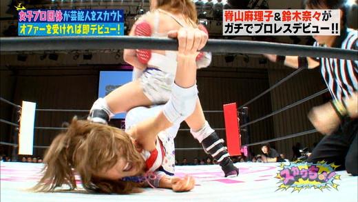 脊山麻理子・鈴木奈々 女子プロレス エロキャプ画像09