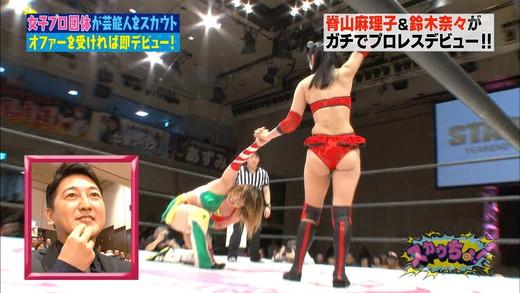 脊山麻理子・鈴木奈々 女子プロレス エロキャプ画像25
