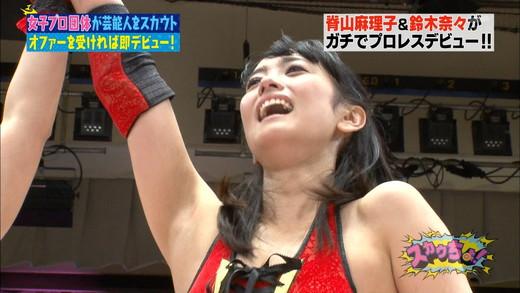脊山麻理子・鈴木奈々 女子プロレス エロキャプ画像40