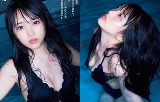向井地美音 美巨乳えろ写真89枚☆ナイトプールに浮かぶEカップお乳がぐうシコwwwwww