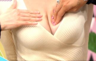 (お乳キャプ)深夜番組で偽乳の作り方特集wwww乳モミや胸チラ映しまくりで男も女もおいしい有能番組wwwwwwwwww