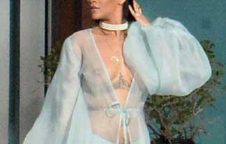 アメリカの歌姫リアーナがチクビスケスケでPV収録wwwwwwww(写真あり)