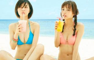 内田理央&逢沢りな 「MORE」モデルのミズ着2ショットに青少年の股間が爆発wwwwww(写真あり)
