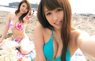 【巨乳】海に行きたくなる!Fカップギャルが可愛いwww