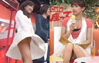 【放送事故】テレビで流れた女子アナのパンチラハプニング傑作選!【画像15枚】