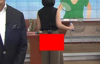 (放送事故)竹内由恵アナ、アダルトなパンツが透けるハプニング☆(GIFムービーあり)