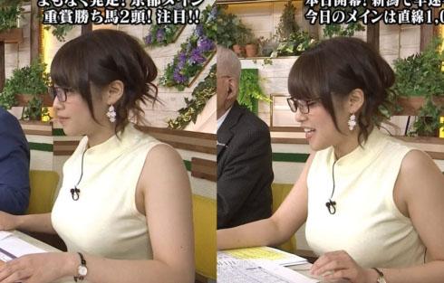 テレ東鷲見玲奈アナのお乳が暴力的なくらい凄いwwwwロケット乳過ぎるwwww(写真・GIFムービーあり)