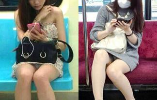 (パンツ丸見え)列車で向かいのモデルがパンツマル見えなせいで乗り過ごし不可避wwwwww(えろ写真)