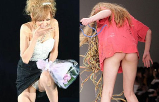 ファッションショーで転倒パンツ丸見え☆一流モデルの激レアハプニング集(えろ写真22枚)