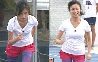 小島瑠璃子が全力で走る☆→当然お乳揺れる☆ ボインボインでワロタwwwwww(キャプ写真)