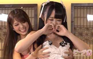 新人av女優が地上波テレビに出演☆ 乳モミまで披露も、続きはDVDでwwwwww