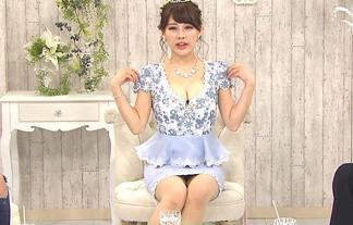 美馬怜子(34)がパンチラしまくり!谷間も出してるしもう露出狂wwww